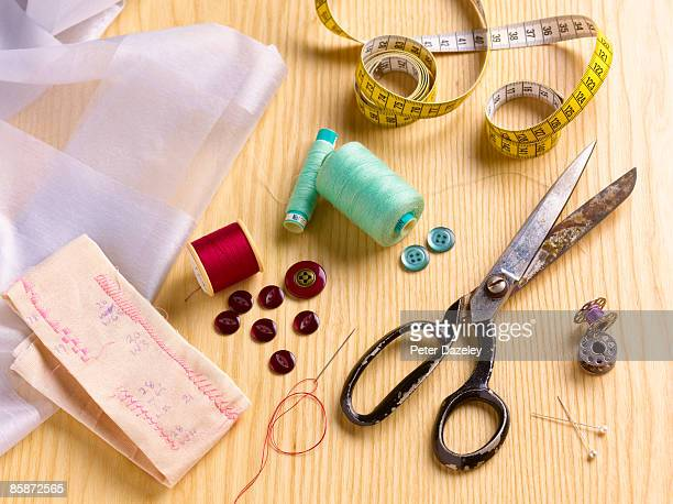 Dressmakers sewing materials.