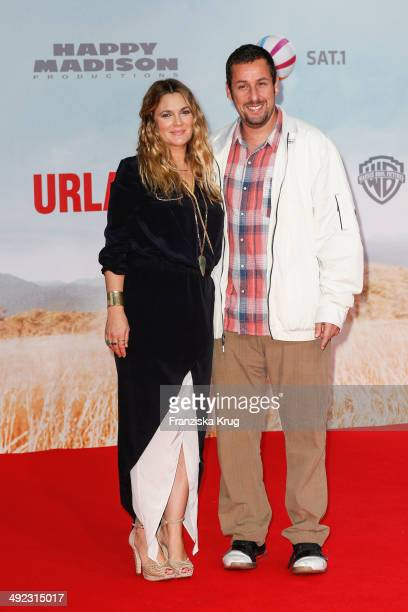 Drew Barrymore and Adam Sandler attend the 'Blended' Berlin Premiere on May 19 2014 in Berlin Germany