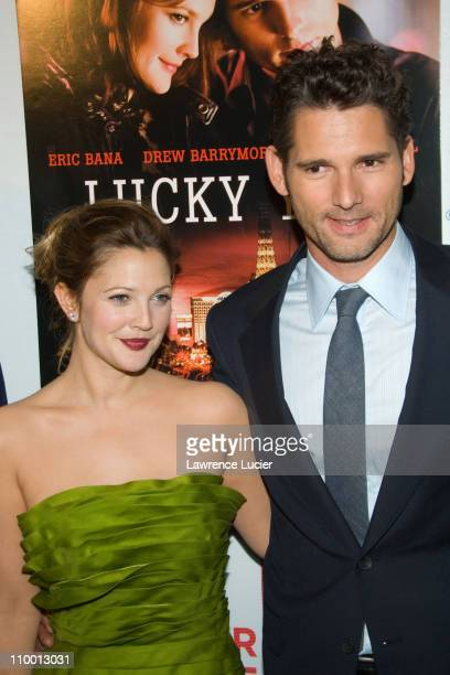 Drew Barrymore and Eric Bana during 6th Annual Tribeca Film Festival Lucky You Inside Arrivals at Tribeca Performing Arts Center in New York City New...