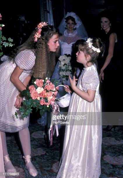 Drew Barrymore and guest during Young Musicians Foundation Celebrity MotherDaughter Fashion Show 1983 at Beverly Hills Hotel in Beverly Hills...
