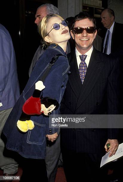 Drew Barrymore and Matthew Rolston during 'Sliver' Los Angeles Benefit Premiere at Mann's National Theater in Westwood California United States