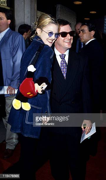 Drew Barrymore and Matthew Rolston during ''Sliver'' Los Angeles Benefit Premiere at Mann's National Theater in Westwood California United States