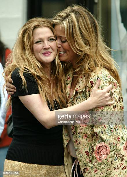 Drew Barrymore and Nancy Juvonen during Drew Barrymore honored with Hollywood Walk of Fame Star at Grauman's Chinese Theatre in Hollywood California...