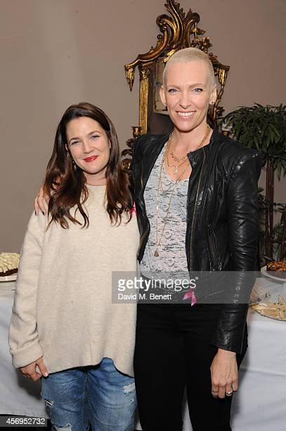 Drew Barrymore and Toni Collette attend afternoon tea to celebrate the new film 'Miss You Already' at The Goldsmith on October 9 2014 in London...