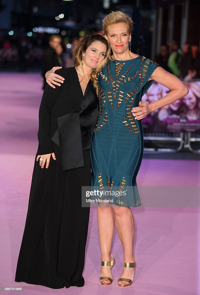 Drew Barrymore and Toni Collette attend the European Premiere of 'Miss You Already' at Vue West End on September 17, 2015 in London, England. Photo by Mike Marsland/WireImage)