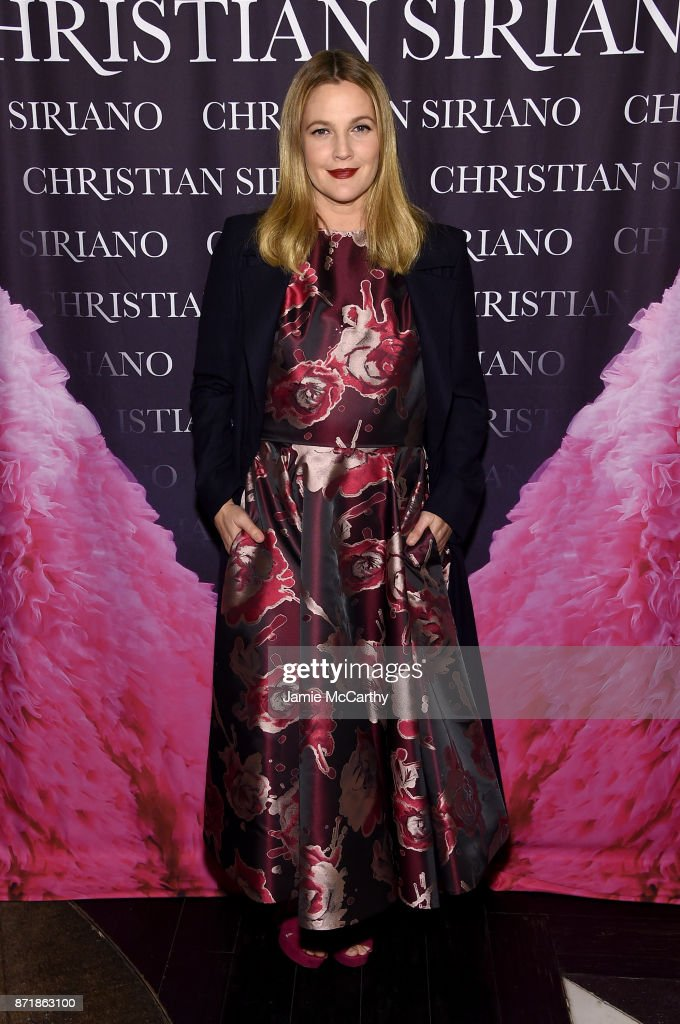 Drew Barrymore attends Christian Siriano celebrates the release of his book 'Dresses To Dream About' at the Rizzoli Flagship Store on November 8, 2017 in New York City.