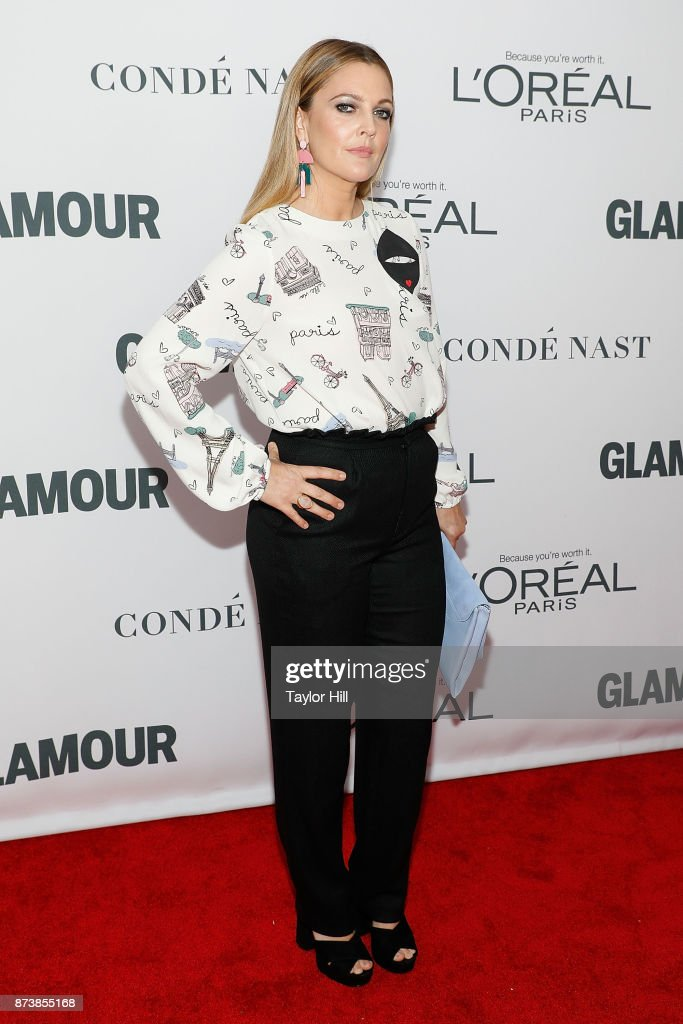 Drew Barrymore attends the 2017 Glamour Women Of The Year Awards at Kings Theatre on November 13, 2017 in New York City.