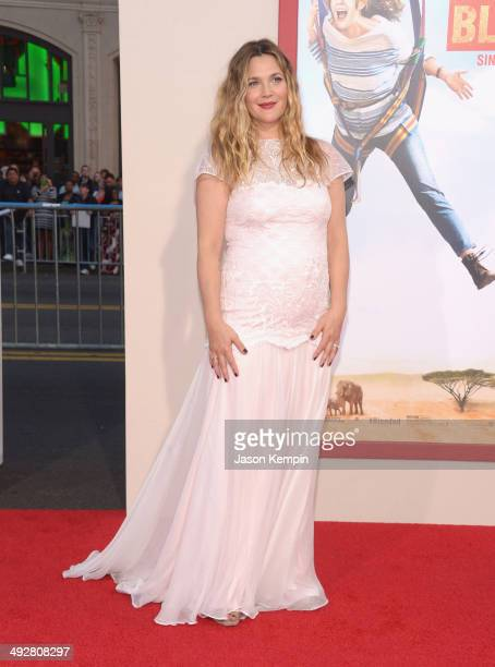 Drew Barrymore attends the 'Blended' premiere at TCL Chinese Theatre on May 21 2014 in Hollywood California