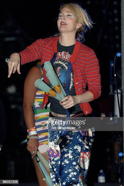 Drew Barrymore attends the MIA performance at the Coachella Valley Music and Arts Festival at the Empire Polo Fields on April 18 2009 in Indio...