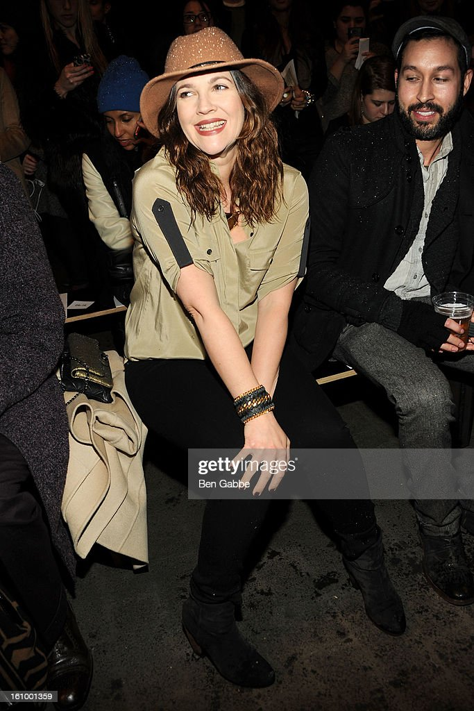 Drew Barrymore attends the Rag & Bone Women's fall 2013 fashion show during Mercedes-Benz Fashion Week at Skylight Studios at Moynihan Station on February 8, 2013 in New York City.