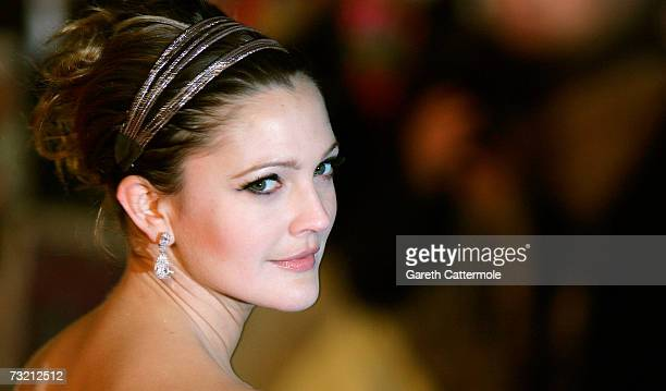 Drew Barrymore attends the World Film Premiere of 'Music and Lyrics' held at the Odeon Leicester Square on February 5 2007 in London England