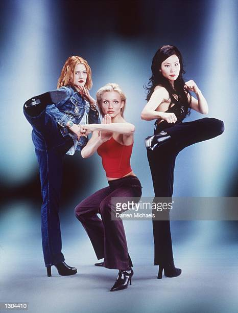 Drew Barrymore Cameron Diaz and Lucy Liu left to right star as a trio of elite private investigators in Columbia Pictures'' actioncomedy 'Charlie''s...