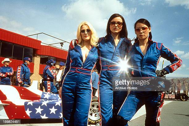 Drew Barrymore Cameron Diaz and Lucy Liu publicity portrait for the film 'Charlie's Angels' 2000