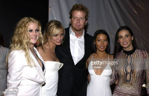 Drew Barrymore Cameron Diaz McG director Lucy Liu and Demi Moore