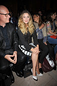 Drew Barrymore seated front row at Anna's Loud show during Spring 2016 New York Fashion Week at Vanderbilt Hall at Grand Central Terminal on...