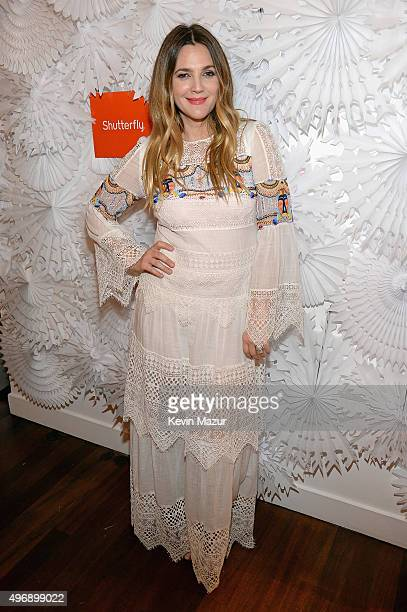 Drew Barrymore unveils her curated Shutterfly collection at a holiday gifting event at Hudson Hotel on November 12 2015 in New York City