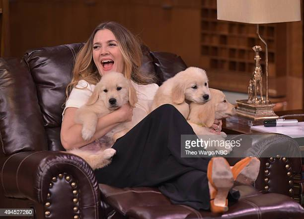Drew Barrymore Visits 'The Tonight Show Starring Jimmy Fallon' at Rockefeller Center on October 27 2015 in New York City