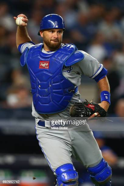 Drew Butera of the Kansas City Royals in action against the New York Yankees at Yankee Stadium on May 23 2017 in the Bronx borough of New York City...