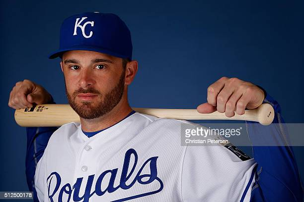 Drew Butera of the Kansas City Royals poses for a portrait during spring training photo day at Surprise Stadium on February 25 2016 in Surprise...