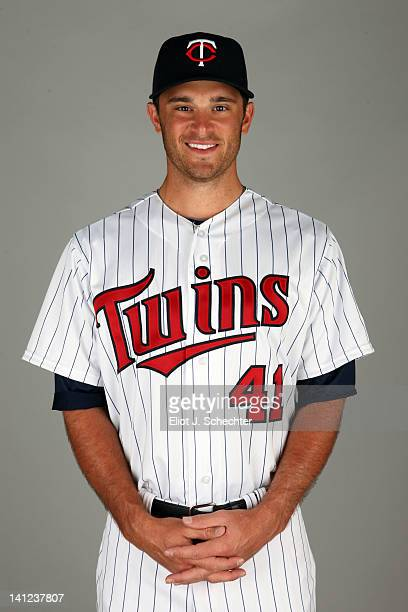 Drew Butera of the Minnesota Twins poses during Photo Day on Monday February 27 2012 at Hammond Stadium in Fort Myers Florida