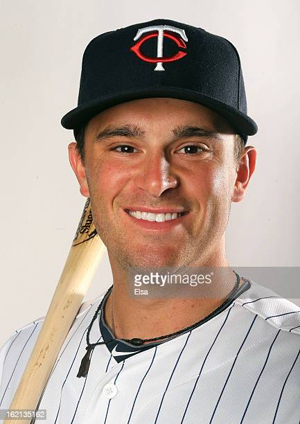 Drew Butera of the Minnesota Twins poses for a portrait on February 19 2013 at Hammond Stadium in Fort Myers Florida