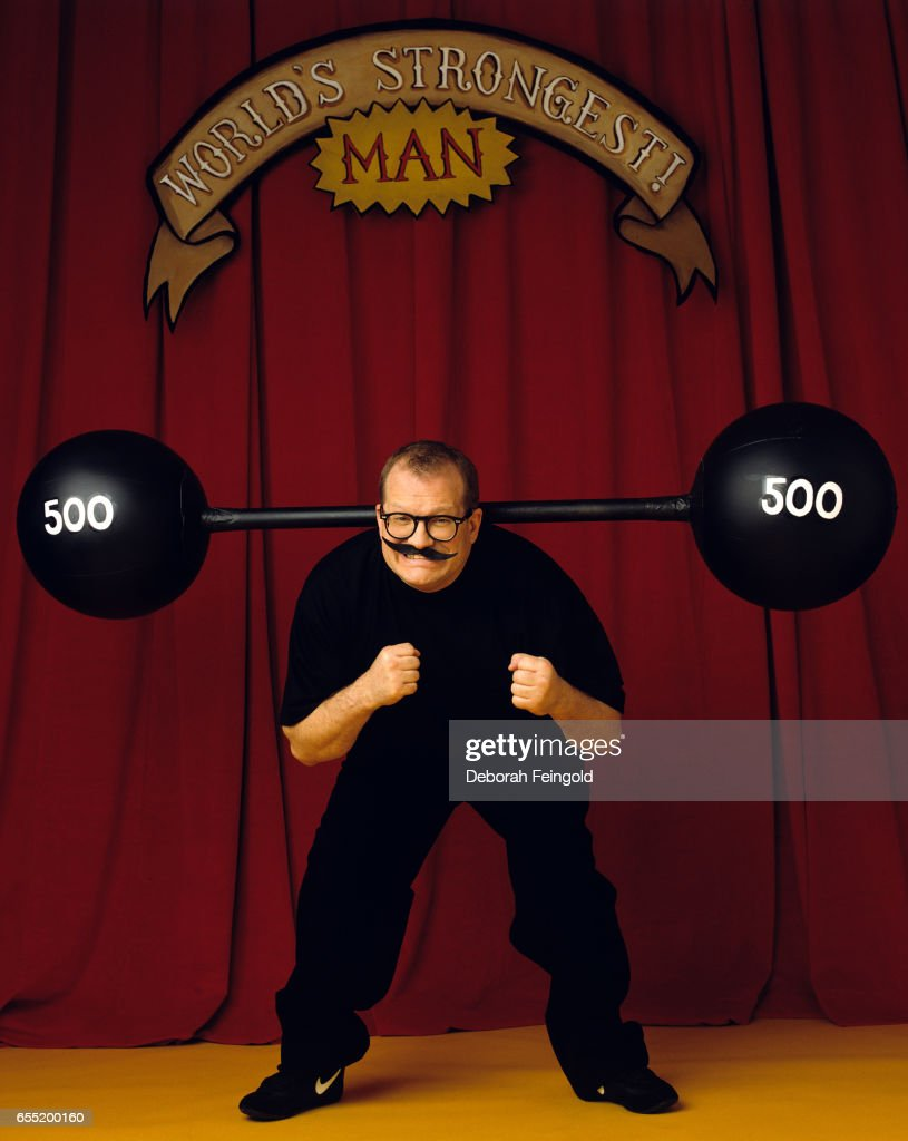 Drew Carey actor and comedian poses in February 2000 in New York City, New York.