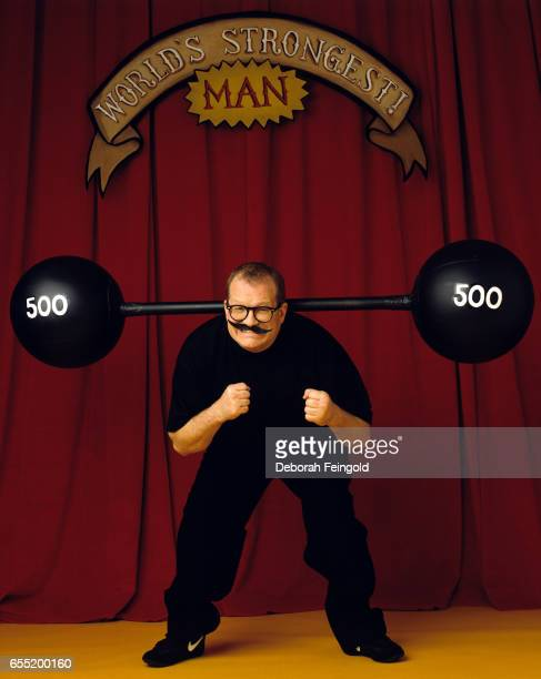 Drew Carey actor and comedian poses in February 2000 in New York City New York
