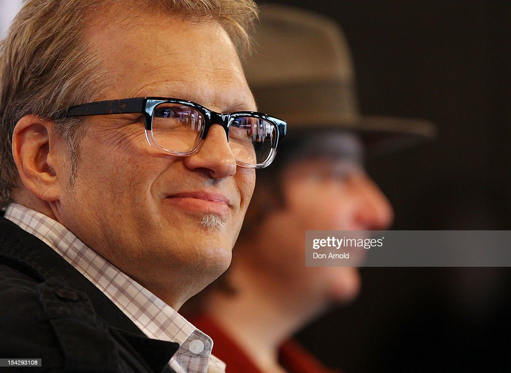 Drew Carey and Jeff Ross are seen during the 'Just For Laughs' Sydney Media Call at Sydney Opera House on October 18, 2012 in Sydney, Australia.