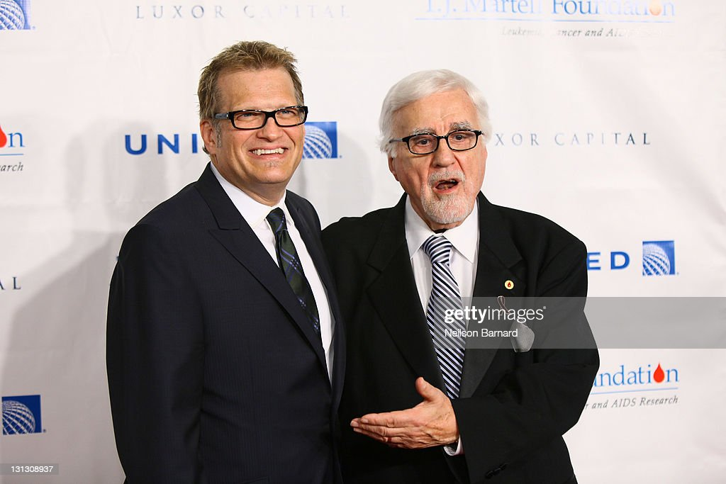 Drew Carey (L) and Tony Martell attend the 36th annual T.J. Martell Foundation's Honors gala at the Marriott Marquis Times Square on November 3, 2011 in New York City.