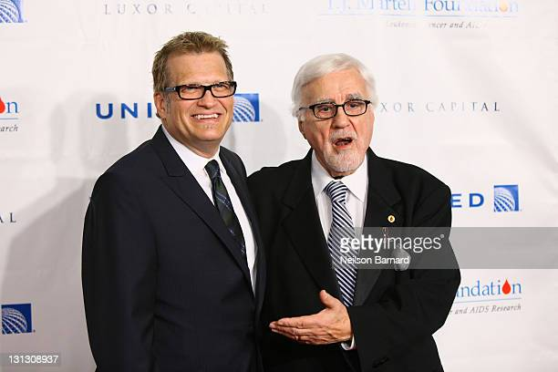 Drew Carey and Tony Martell attend the 36th annual TJ Martell Foundation's Honors gala at the Marriott Marquis Times Square on November 3 2011 in New...