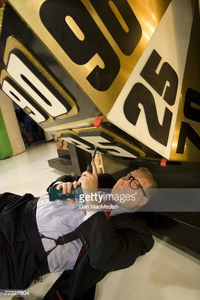 Drew Carey is photographed on the set of The Price is Right at CBS Television City in Los Angeles CA<br>Published image