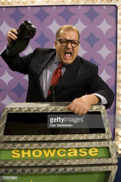 Drew Carey is photographed on the set of The Price is Right at CBS Television City in Los Angeles CA