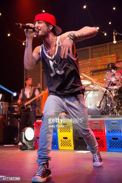 Drew Chadwick of Emblem3 performs live onstage at Bankers Life Fieldhouse on February 15 2014 in Indianapolis Indiana