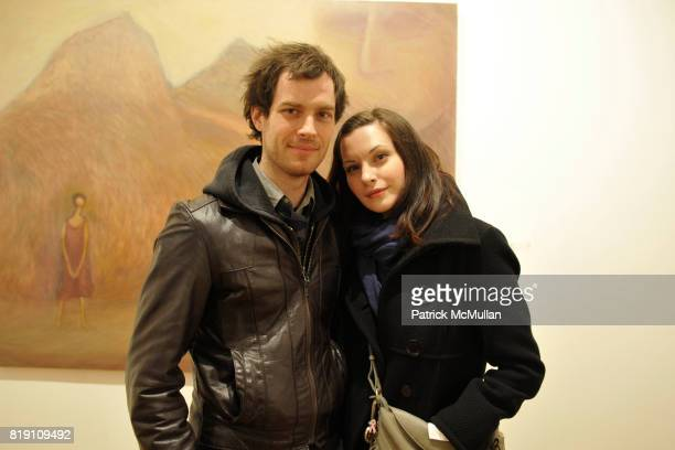 Drew Conrad and Jill Flint attend Posoon Park Sung Being and Soul at June Kelly Gallery on March 11 2010