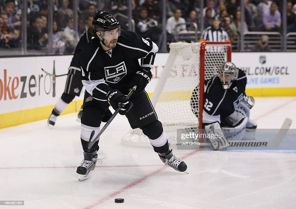 Drew Doughty #8 of the Los Angeles Kings skates against the Nashville Predators at Staples Center on January 31, 2013 in Los Angeles, California.