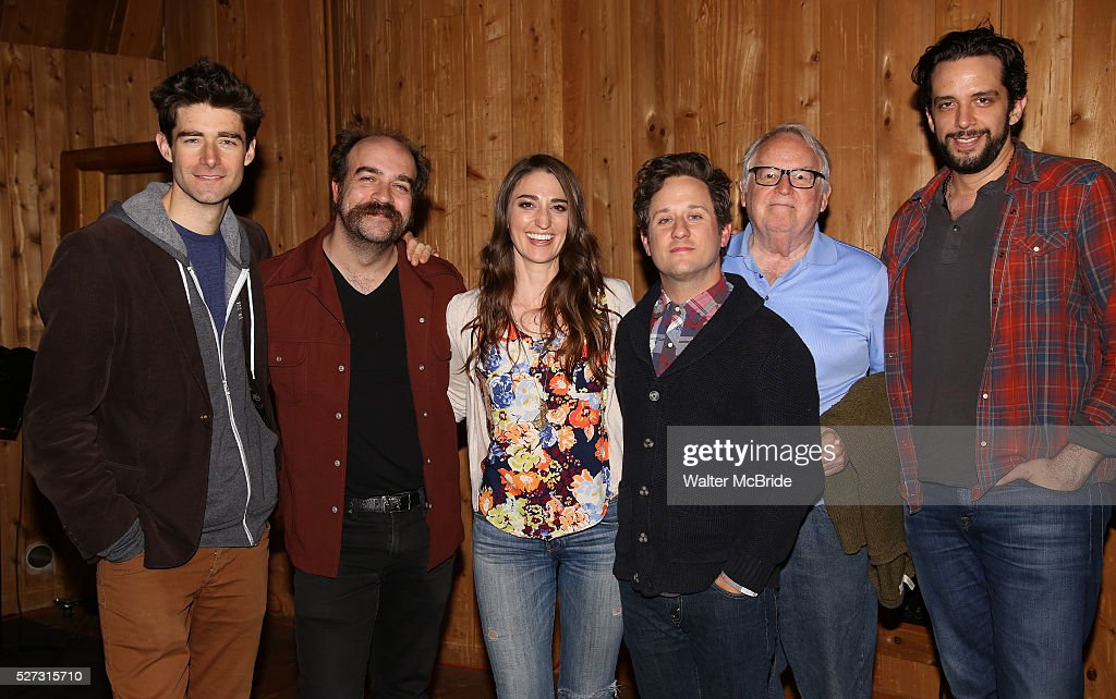 Drew Gehling, Eric Anderson, <a gi-track='captionPersonalityLinkClicked' href=/galleries/search?phrase=Sara+Bareilles&family=editorial&specificpeople=4116387 ng-click='$event.stopPropagation()'>Sara Bareilles</a>, <a gi-track='captionPersonalityLinkClicked' href=/galleries/search?phrase=Christopher+Fitzgerald&family=editorial&specificpeople=4069728 ng-click='$event.stopPropagation()'>Christopher Fitzgerald</a>, Dakin Matthews and <a gi-track='captionPersonalityLinkClicked' href=/galleries/search?phrase=Nick+Cordero&family=editorial&specificpeople=5751069 ng-click='$event.stopPropagation()'>Nick Cordero</a> attends the 'Waitress' Broadway cast recording at MSR Studios on May 2,, 2016 in New York City.