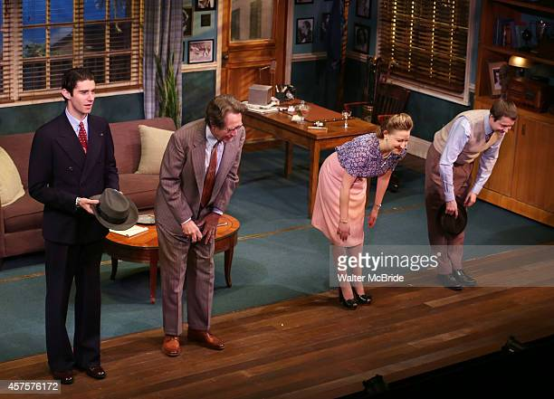 Drew Gehling Larry Pine Sophie von Haselberg and Vincent Kartheirser during the OffBroadway opening Night Performance Curtain Call for 'Billy Ray' at...