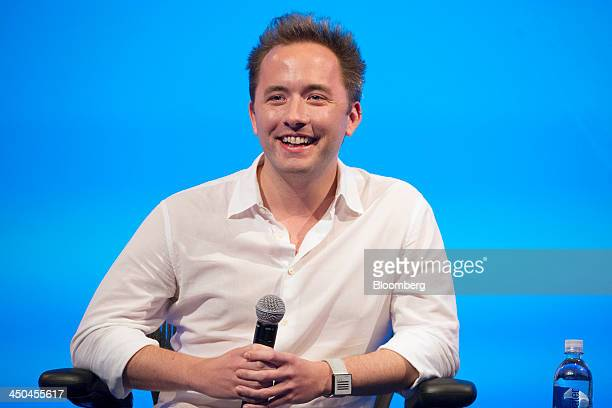 Drew Houston chief executive officer and cofounder of Dropbox Inc attends the DreamForce Conference in San Francisco California US on Monday Nov 18...