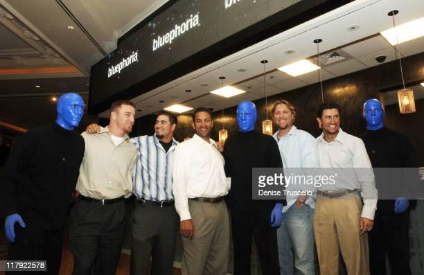JD Drew Jason Repko Jose Cruz Brett Tomko and Nomar Garciaparra with the Blue Man Group