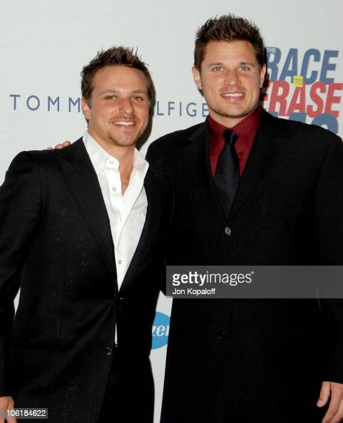 Drew Lachey and brother Nick Lachey during 14th Annual Race to Erase MS Themed 'Dance to Erase MS' Arrivals at Century Plaza Hotel in Century City...