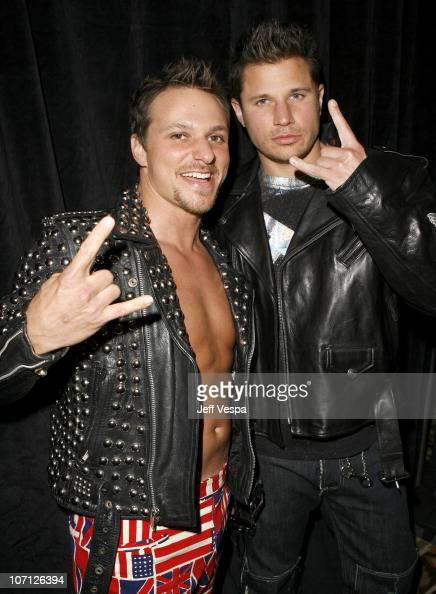 Drew Lachey and Nick Lachey during 14th Annual Race to Erase MS Themed 'Dance to Erase MS' Backstage at Hyatt Regency Century Plaza in Century City...