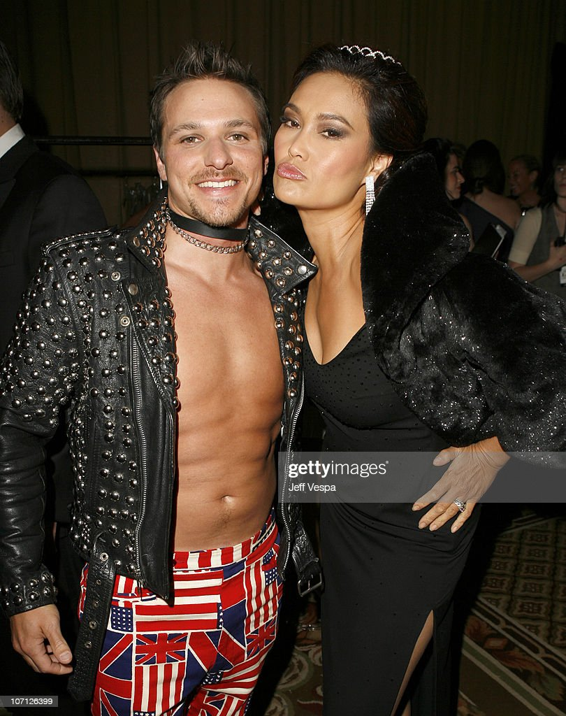 Drew Lachey and Tia Carrere during 14th Annual Race to Erase MS Themed 'Dance to Erase MS' Backstage at Hyatt Regency Century Plaza in Century City...