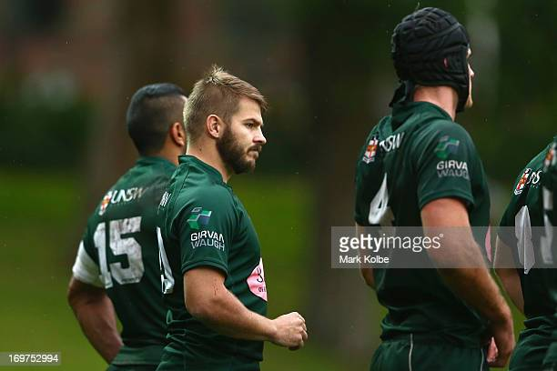 Drew Mitchell of Randwick looks on during the round nine Shute Shield match between Sydney University and Randwick at University Oval No 1 on June 1...