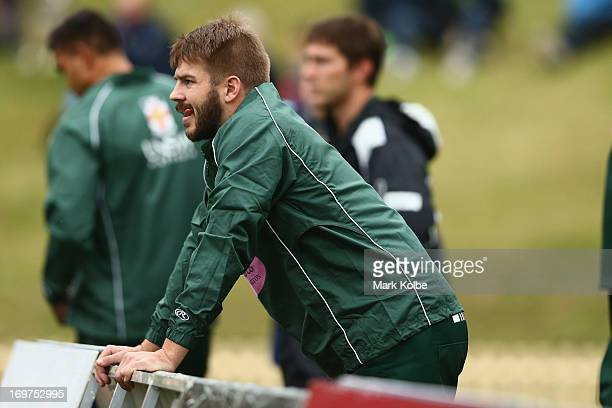 Drew Mitchell of Randwick looks on from the sideine during the round nine Shute Shield match between Sydney University and Randwick at University...