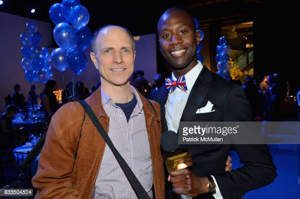 Drew Moore and Charlii Sebunya attend The Blue Jacket Fashion Show to Benefit the Prostate Cancer Foundation at Pier 59 Studios on February 1 2017 in...