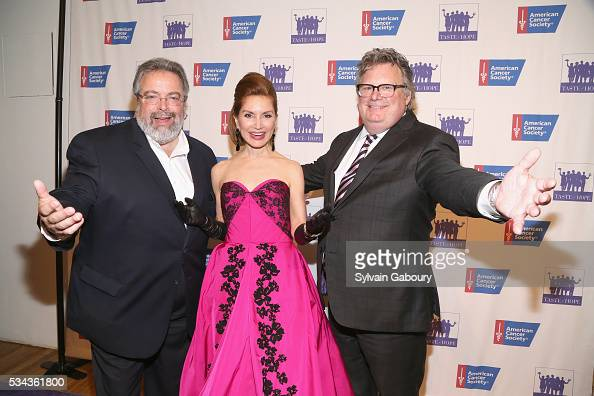 Drew Nieporent Jean Shafiroff and David Burke attend The American Cancer Society's 11th annual Taste of Hope event at Metropolitan Pavilion on May 25...