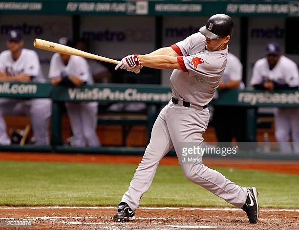 D Drew of the Boston Red Sox bats against the Tampa Bay Rays during the game at Tropicana Field on July 16 2011 in St Petersburg Florida