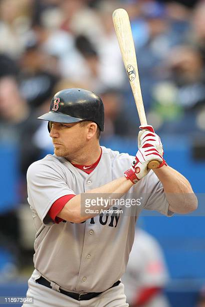 D Drew of the Boston Red Sox bats against the Toronto Blue Jays in a MLB game on June 11 2011 at the Rogers Centre in Toronto Canada The Red Sox...