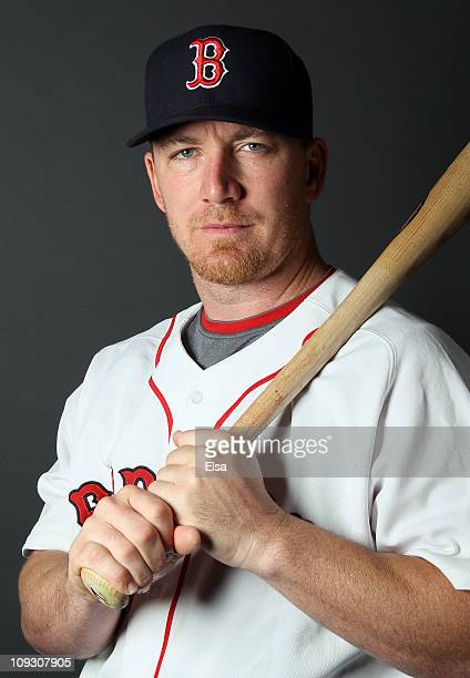 D Drew of the Boston Red Sox poses for a portrait during the Boston Red Sox Photo Day on February 20 2011 at the Boston Red Sox Player Development...
