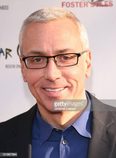 Drew Pinsky arrives to the Hillsides Foster Soles Benefit Kick Off Party at Bar Celona on April 27 2011 in Pasadena California